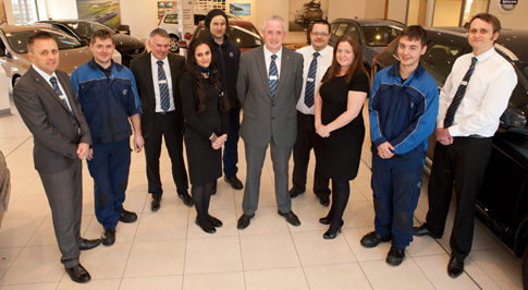 New Look Aftersales team at Volvo Cars Derby