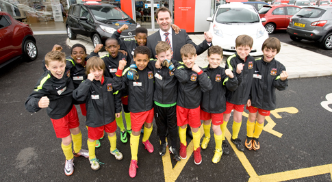 Dealership sponsors Northampton Under 10s FFA Escola