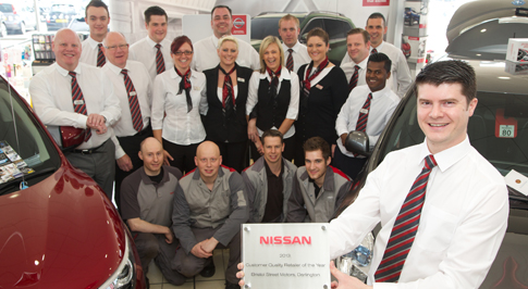 Nissan Darlington presented with a national award