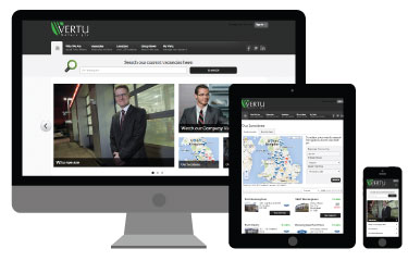 Responsive Vertu Careers website