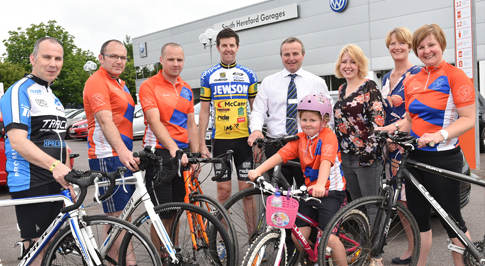 Charity bike ride gets into gear with South Hereford Garages