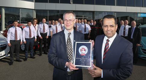 Vauxhall Sunderland recognised for outstanding service