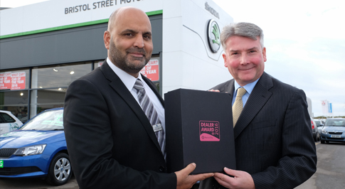 Bristol Street Motors Skoda Darlington picks up award