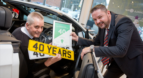 Parts Expert Clocks Up 40 Years at Chesterfield Vauxhall