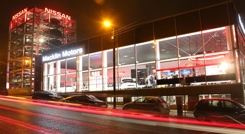 Nissan Glasgow Central's glass tower in action