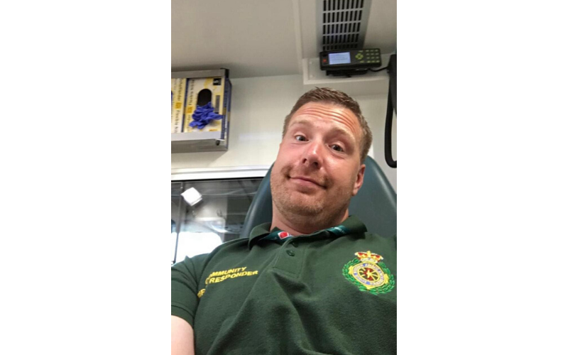 John Hughes, volunteering as a community responder